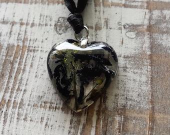 Purple Hyacinth Confetti Heart