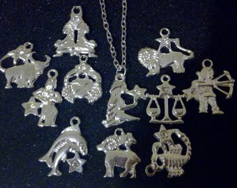 Zodiac Astrology Star Sign Necklaces