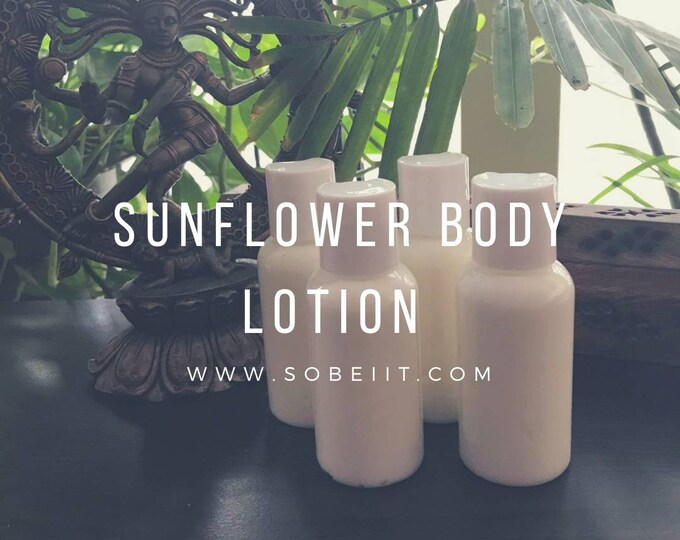 Sunflower Body Lotion 2oz, Moisturizing Body Lotion, Body Cream