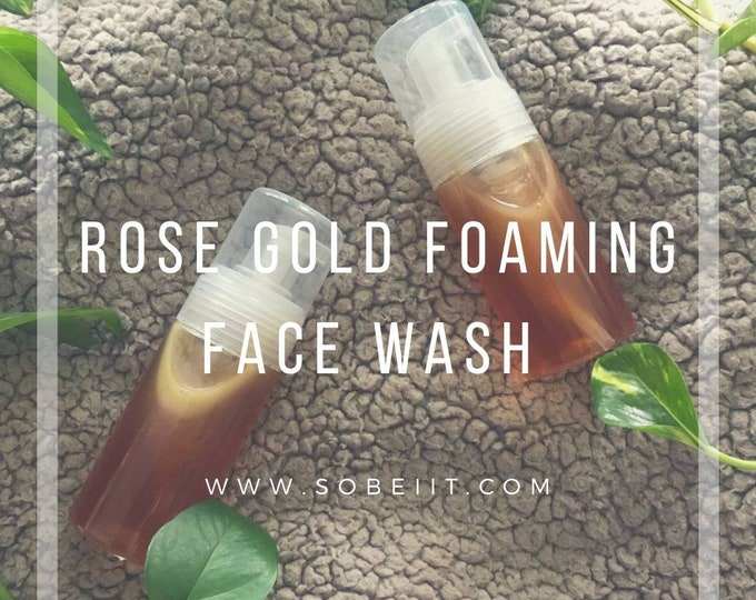 Rose Gold Foaming Face Wash