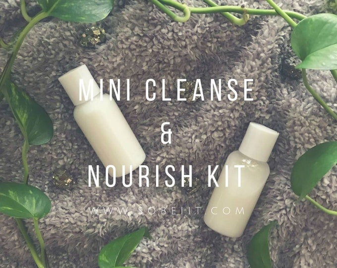 Mini Cleanse & Nourish Kit 2oz, Liquid Soap and Lotion Kit