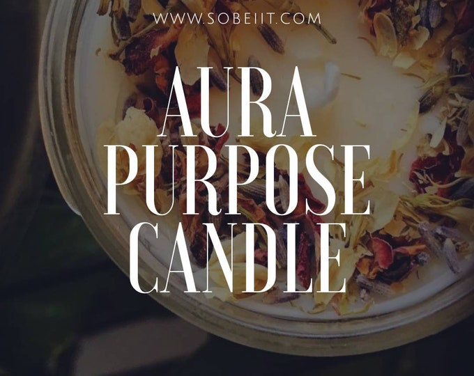 AURA Purpose Herbal Soy Beeswax Candles Aromatherapy Candles