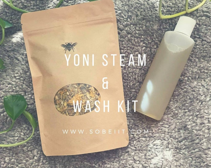 Yoni Steam and Wash Kit, Vaginal Steam and Wash Kit, Vaginal Detox Kit, V-Steam Detox Kit, Yoni Steam Herbs Kit, Yoni Care Kit