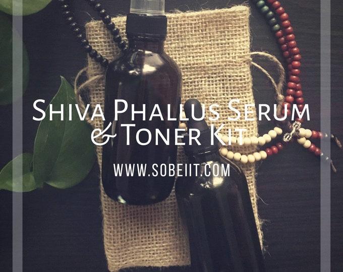 Shiva Phallus Serum & Toner Kit, Men's hygiene spray and serum kit, phallus grooming kit, men's blood circulation set