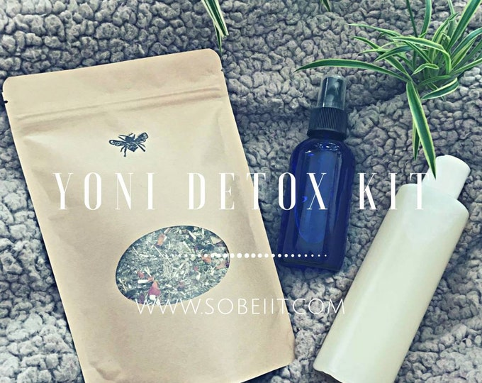 Yoni Detox Kit, Vaginal Cleanse Kit, Vaginal Detox Kit, V-Steam Kit