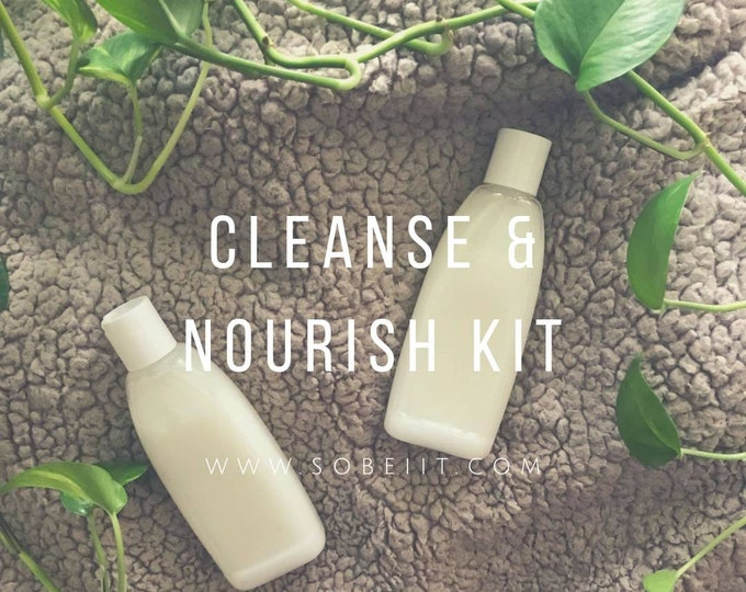 Cleanse & Nourish Kit 8oz, Soap and Lotion Kit, Soap and Lotion Gift Set