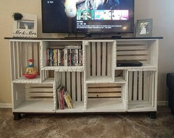 Farmhouse Crate TV Stand (LOCAL PICKUP only)