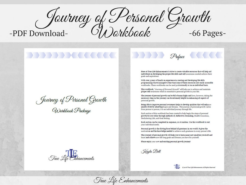 Self Care Planner / Journey of Personal Growth Workbook image 0