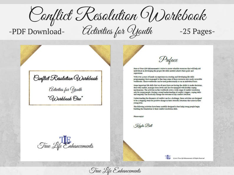 Conflict Resolution Workbook for Youth Mental Health Aid image 0
