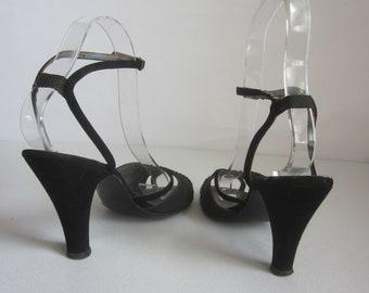 7681f86c411 Black silk shoes | Etsy