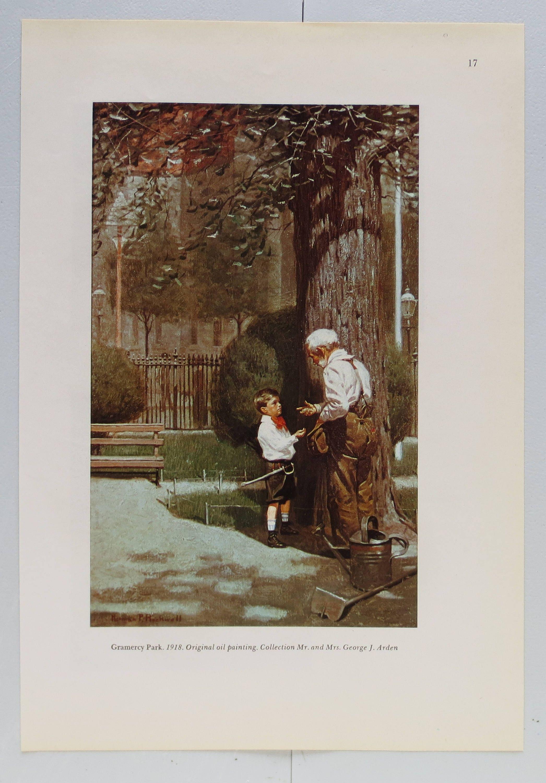Vintage Norman Rockwell Gramercy Park Book Print Vintage | Etsy