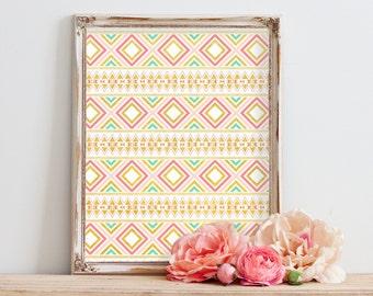 Downloadable prints, Tribal Nursery decor girl, Best selling items, Tumblr room decor, Printable art, girl nursery decor, top selling items