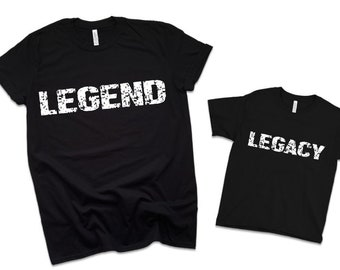 d43b2aad Fathers Day Shirts, LEGEND & LEGACY, Father/Son Shirts, Dad Shirt