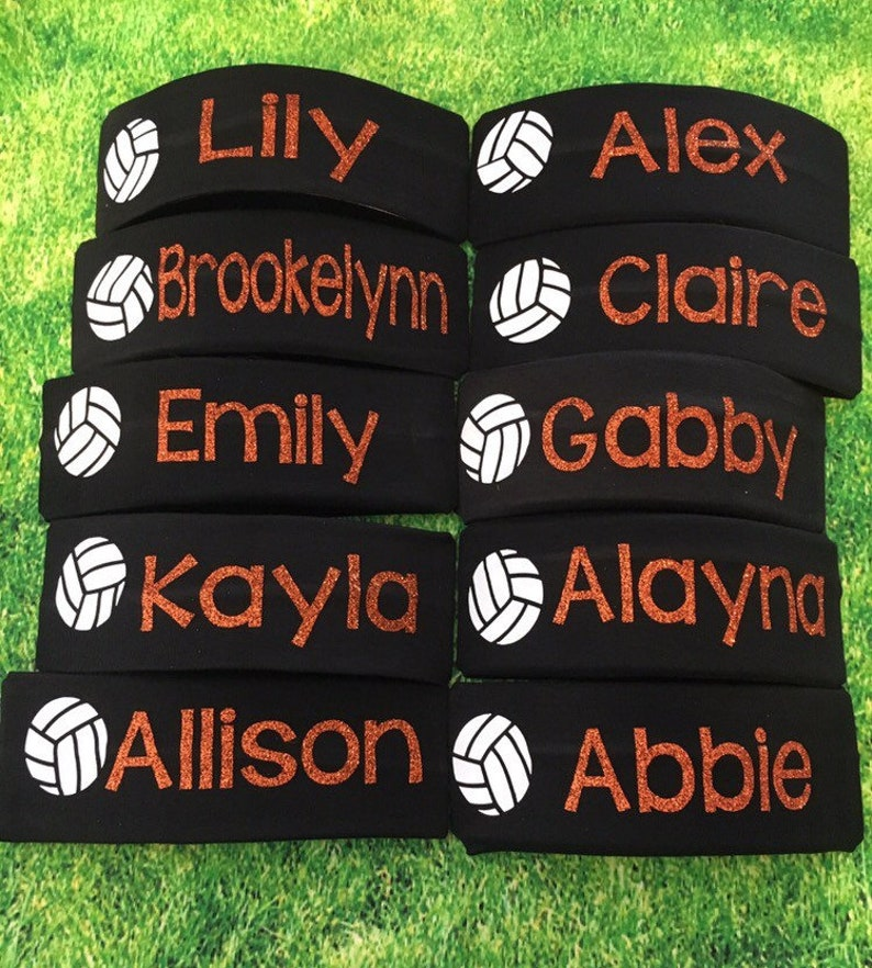 Personalized Headbands Custom Headbands Sports Headband Team Headband Soccer Volleyball Basketball Softball Tennis Lacrosse Girls