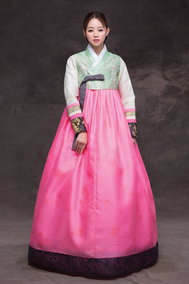 hanbok luxury korean traditional costume custom made  etsy