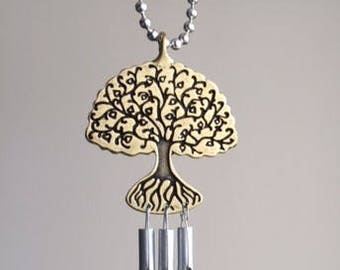 Handmade and Hand-Tuned Whimsical Tree of Life Car Chime