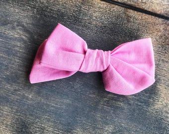 Pink school girl bow