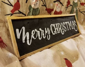 Reclaim wood handmade Christmas sign