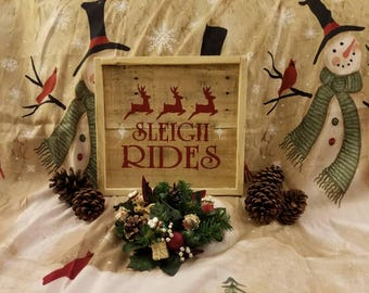 Handmade Reclaim wood holiday sign