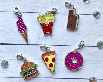 Enamel Coated Food Charm, Planner Charm, Keychain, Stitch Marker