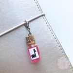 Llama Extract Bottle Charm, Planner Charm, Keychain, Stitch Marker, Zipper Pull