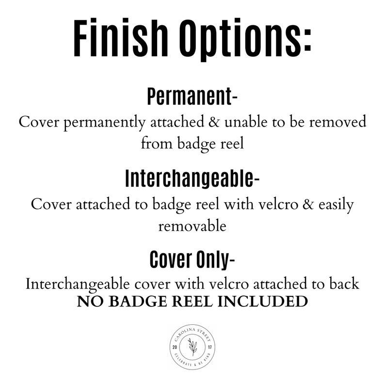 Rifle Paper Co Fabric Badge Reel Mint Gold Metallic Polka Dots Nurse Name Badge ID Holder Interchangeable Retractable Alligator Belt Clip