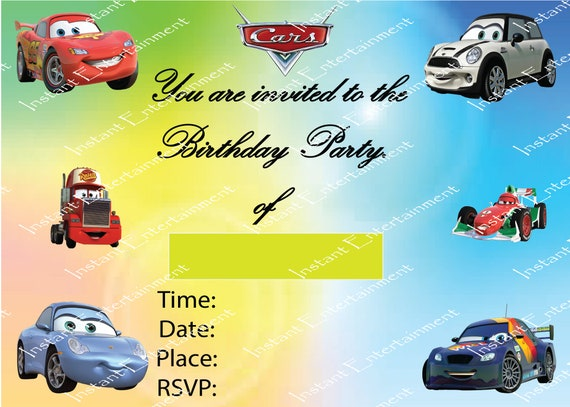 Happy Birthday Party Invitation Card Thank You Letter Card Etsy