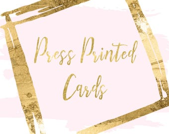 Press Printed Cards