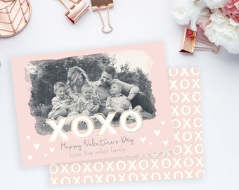 XOXO Valentine's Day Card Template