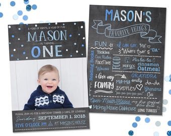 Favorite Things 1st Birthday Invitation