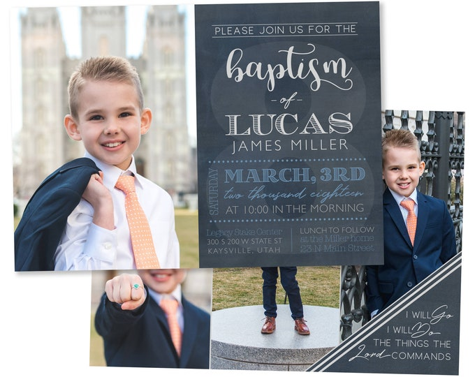 LDS Baptism Invitation Boy | Baptism Invitation | LDS Baptism Invitation | Boy Baptism Invitations Digital | Baptism Announcement | Baptism
