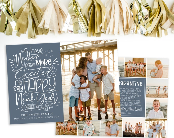 Funny 2021 Happy New Year Photo Card Template