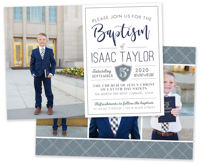 LDS Baptism Invitation Boy | Baptism Invitation | LDS Baptism Invitation | Boy Baptism Invitations  | Digital Instant Download