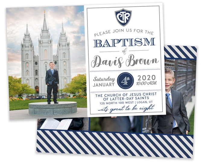 LDS Baptism Invitation Boy | Baptism Invitation | LDS Baptism Invitation | Boy Baptism Invitations Digital | Baptism Announcement
