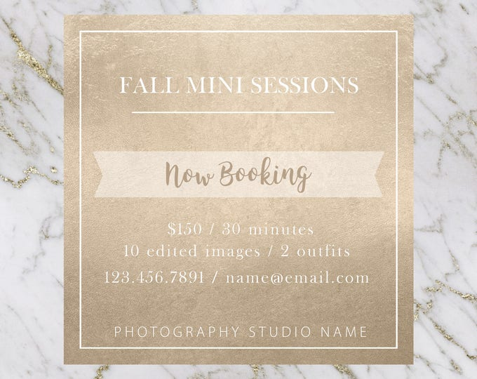 Fall Minis Marketing Template
