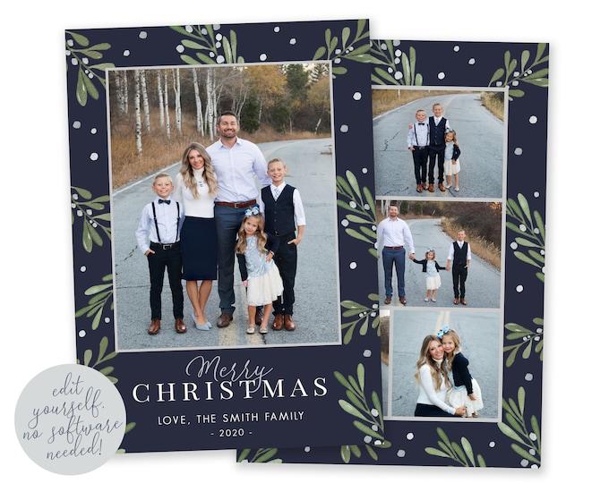 Christmas Card Template | Christmas Cards | Photo Christmas Card | Editable Christmas Card | Christmas Card Template 5x7 | Corjl