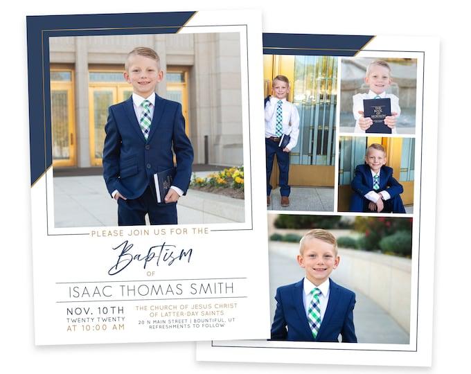 LDS Baptism Invitation Boy | Baptism Invitation | LDS Baptism Invitation | Boy Baptism Invitations Digital | Baptism Announcement