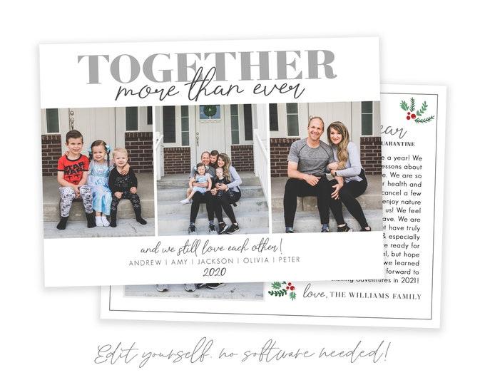 Funny Covid Christmas Cards Template 5x7 | Christmas Card 2020 | Quarantine Christmas | Editable Photo Christmas Card | Holiday Card | Corjl