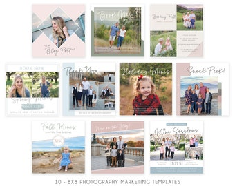 Photography Marketing Template | Mini Session Ad | Instagram Template | Photography Marketing Ad - Advertisement Template
