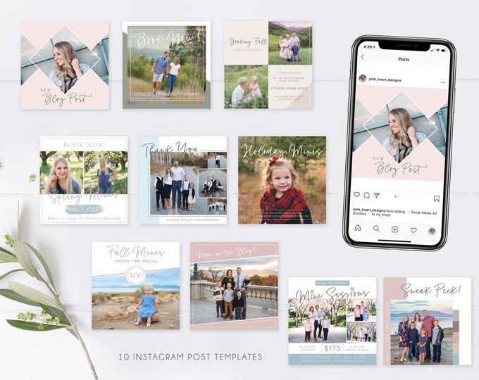 Instagram Post Template | Social Media Template | Instagram Template | Photography Marketing Ad | Advertisement Template
