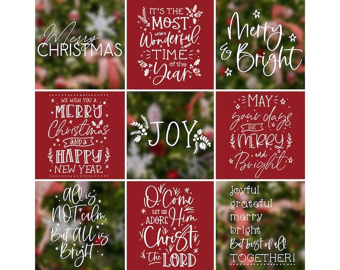 Christmas Overlays - Holiday Word Art - Overlays for Photographers - Christmas Word Art - Gold Overlays - Christmas Printable Art