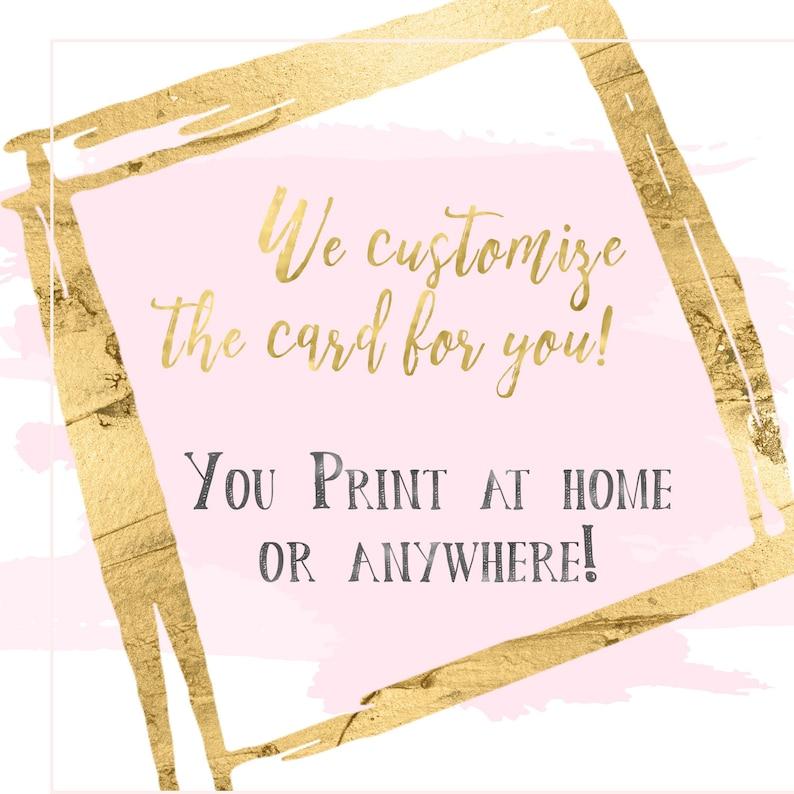 Custom Printable Designs  Print at Home  Digital Card  You image 0