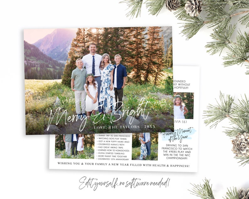 Year In Review Christmas Card Template  Christmas Cards image 0