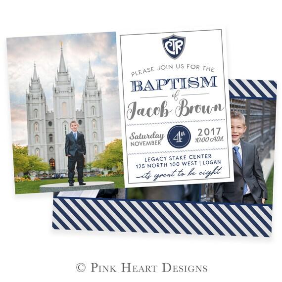 LDS invitación de bautismo bautismo invitación invitación | Etsy