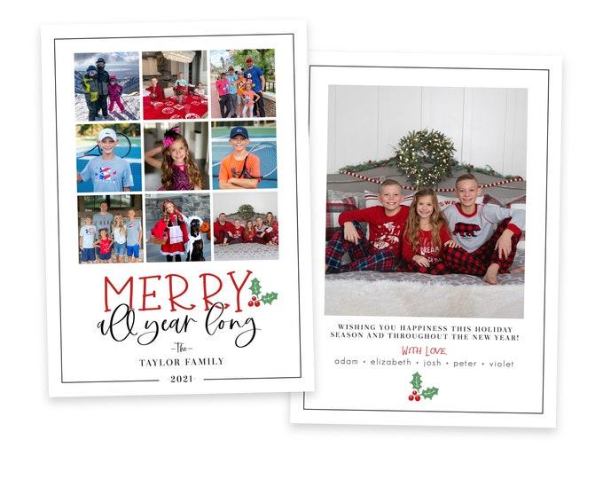 Christmas Card Template | Christmas Cards Template 5x7 | Photo Christmas Card | Editable ] Card | Holiday Card Templates | Photoshop