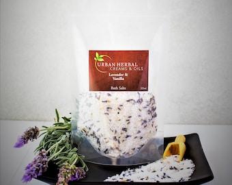 Relaxing Soothing Lavender & Vanilla Natural Bath Salts