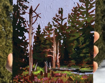 Acrylic Painting, Fine art, Landscape, Forest painting, Marsh, Original