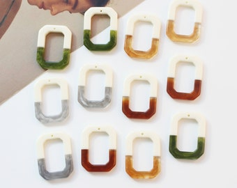 10pcs 35*17MM Semicircle Cellulose Acetatic Resin Pendants Colorful Charm Jewelry Charm Diy Jewelry Accessories Craft Supplies