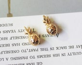 6pcs Real 18K Gold Plated Gold Dainty Pineapple Charm ,Fruit Charm,Food,Dessert,Gold Initial Charm