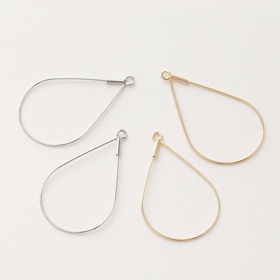 Circle Ear Hoop Wine Glass Charm Hoops 10PCS 24K Real Gold Plated Brass Hoop,Diamond shape Dangle Earrings Alien Ear Hoop